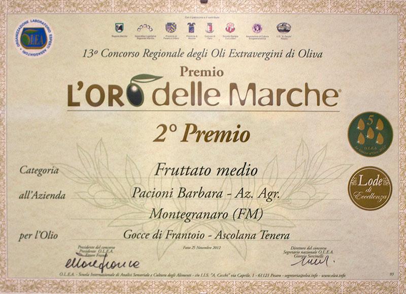 L'ORO delle MARCHE - 2° premio