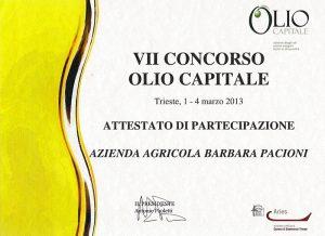 VII CONCORSO OLIO CAPITALE 2013