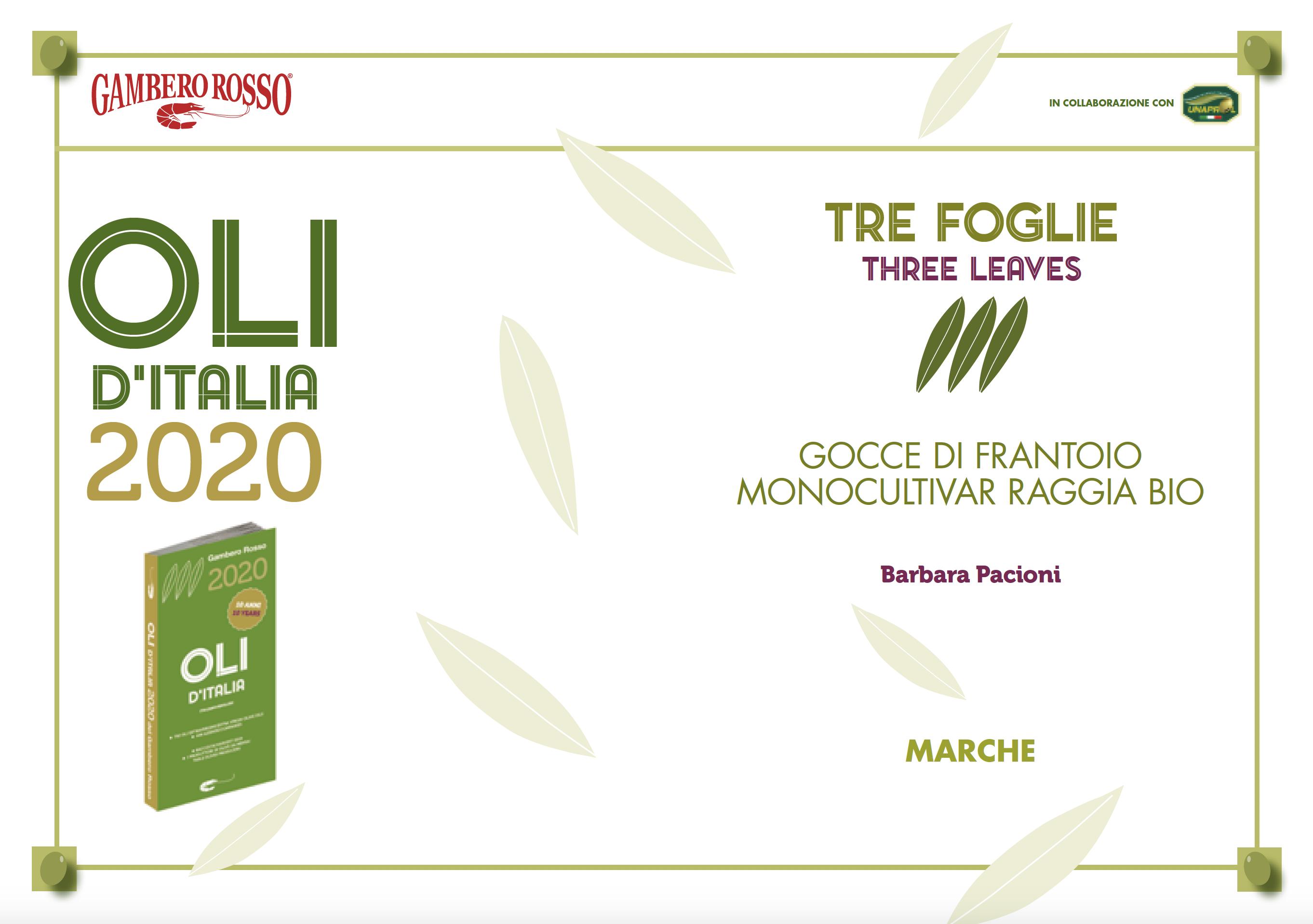 Oli d'Italia 2020
